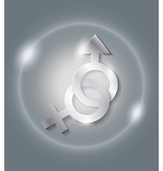 sex icon vector image vector image