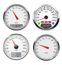 Speedometers and tachometers car dashboard gauges vector