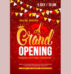 Template for advertising poster grand opening vector