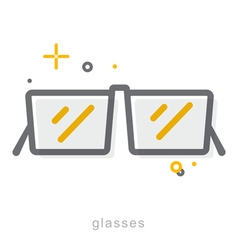 Thin line icons Glasses vector