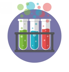 Three test tubes vector image vector image