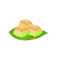 Traditional indonesian sweets delicious snacks vector