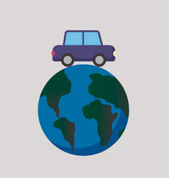 Travel around world auto travel concept road vector