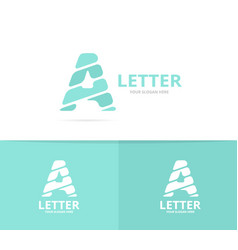 unique letter a logo design template vector image