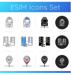 Virtual networking icons set vector