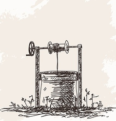 water well vector image