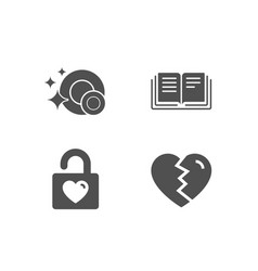 Wedding locker education and clean dishes icons vector