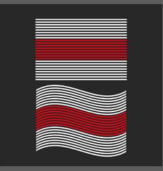 white-red-white flag belarus set vector image