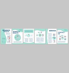 Womens health brochure template layout vector