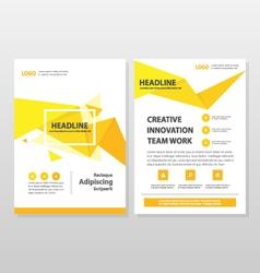 Yellow orange annual report Leaflet Brochure Flyer vector image