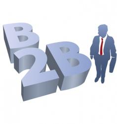 b2b business man ecommerce vector image vector image