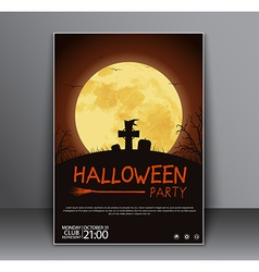 Design a poster flyers cover for Halloween vector image vector image