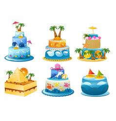 holiday birthday cake vector image