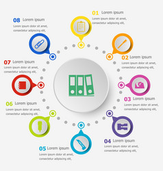 infographic template with stationery icons vector image vector image