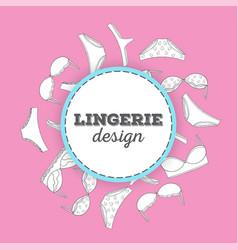 lingerie background vector image