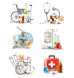 Medical Supply Elements Set vector image