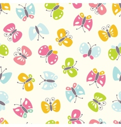 Seamless background with colorful butterfies vector image vector image