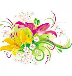 flowers design vector image vector image