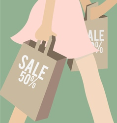 Sale and shopping vector image vector image