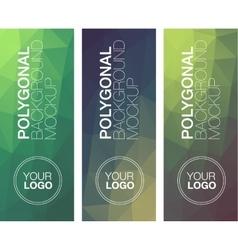 Vertical polygonal banners vector image
