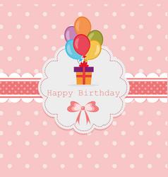 vintage happy birthday vector image