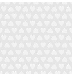 White seamless background with hearts vector image vector image