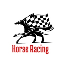 Galloping racehorse symbol for equine sport design vector image