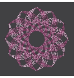 Ornamental round lace circle ornament vector image vector image