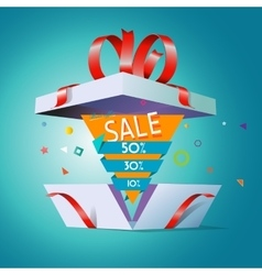 Special offer in a gift box vector image