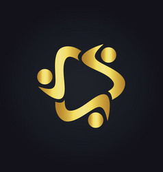 Circle diversity gold logo vector