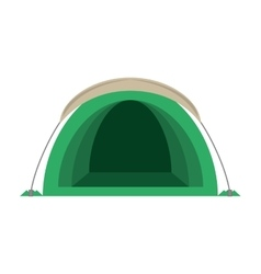 dome green tent hiking forest camping vector image vector image
