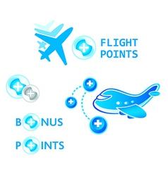 flight points vector image