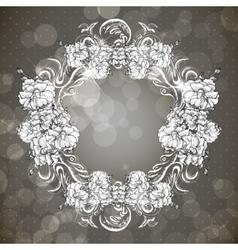 Floral frame in vintage style vector