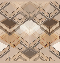 geometric brown pattern vector image