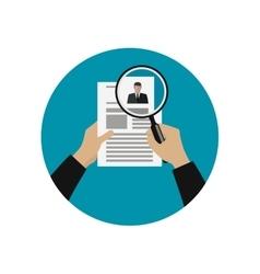 Hiring professional staff vector image