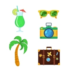 Tourist travel collection vector image vector image