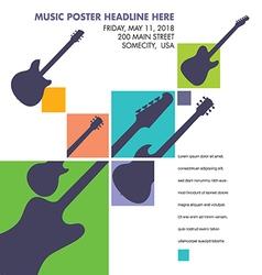 Unusual guitar art vector image vector image