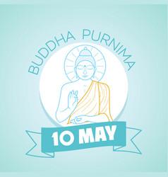10 may buddha purnima vector
