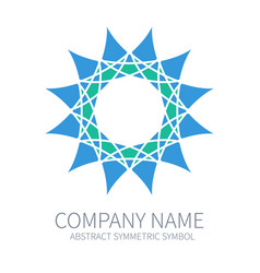 Abstract symmetry circle logo harmony polygon vector