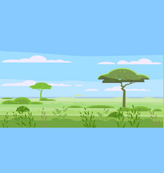 African landscape savannah panorama nature vector