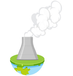 an isolated nuclear power plant vector image