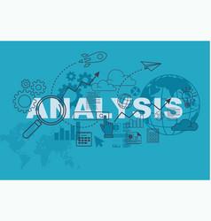 analysis website banner concept vector image