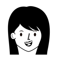 anime girl manga vector image