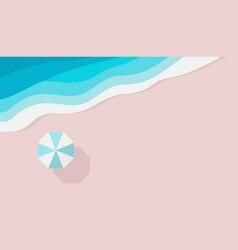 azure sandy beach piece sea or ocean and beach vector image