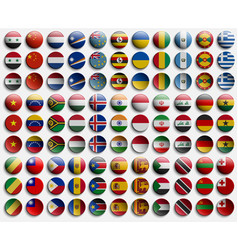badge icon from flags countries world set vector image