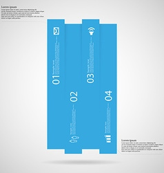 Bar infographic template vertically divided to vector