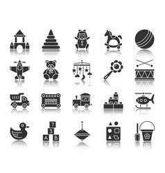 Batoy black silhouette icons set vector