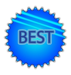 Big blue button labeled BEST vector image