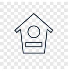 bird house concept linear icon isolated on vector image