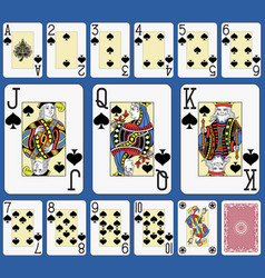 Blackjack spades suite french stylexa vector